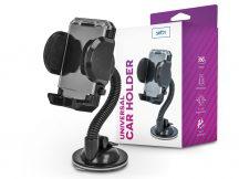 Setty univerzális műszerfalra/szélvédőre helyezhető PDA/GSM autós tartó - Setty 33769 Car Holder - fekete