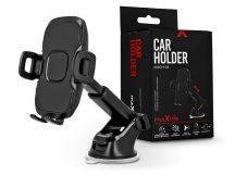 Maxlife univerzális műszerfalra/szélvédőre helyezhető PDA/GSM autós tartó - Maxlife MXCH-03 Car Holder - fekete