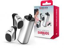 Forever Bluetooth sztereó TWS headset v4.1 + töltő dokkoló - Forever TWE-200 Bluetooth True Wireless Earbuds - ezüst