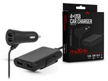 Maxlife 4xUSB szivargyújtó töltő adapter - Maxlife MXCC-03 USB Car Charger - 5V/2,4A - fekete