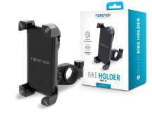 Univerzális kerékpárra szerelhető telefontartó - Forever BH-110 Bike Holder - fekete