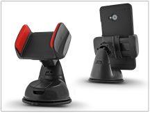 Univerzális PDA/GSM autós tartó - szilikon - fekete/piros