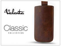 VALENTA POCKET CLASSIC SLIM S20 univerzális bőrtok - Apple iPhone 5/5S - barna