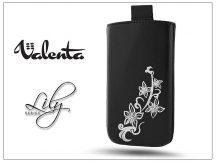 VALENTA POCKET LILY S20 univerzális bőrtok - Apple iPhone 5/5S - black