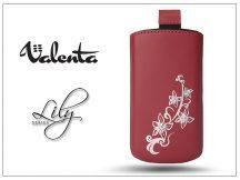 VALENTA POCKET LILY S20 univerzális bőrtok - Apple iPhone 5/5S - red
