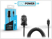 Micro USB szivargyújtós gyorstöltő spirál kábellel - Eazy Power - 5V/1A