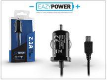 Micro USB szivargyújtós gyorstöltő 140 cm-es kábellel - Eazy Power - 5V/2,1A