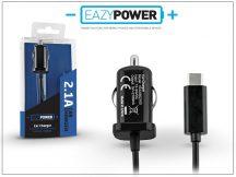 USB Type-C szivargyújtós gyorstöltő 150 cm kábellel - 5V/2,1A - Eazy Power