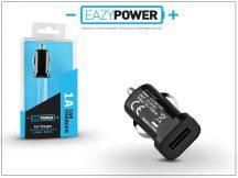 Univerzális USB szivargyújtós töltő adapter - Eazy Power - 5V/1A - fekete