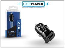 Univerzális USB szivargyújtós töltő adapter - Eazy Power - 5V/2,1A - fekete
