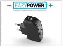 Univerzális USB hálózati töltő adapter - Eazy Power - 5V/1A - fekete - (ECO csomagolás)