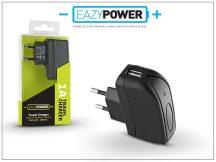 Univerzális USB hálózati töltő adapter - Eazy Power - 5V/1A - fekete
