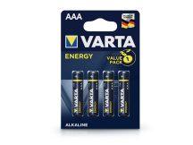 VARTA Energy Alkaline AAA ceruza elem - 4 db/csomag