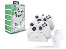 Venom VS2871 Twin Docking Station töltőállomás + 2 db akkumulátor - Xbox Series X/S - fehér