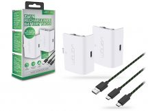 Venom VS2872 Twin Rechargeable Battery Packs 2 db akkucsomag + 3 m-es töltőkábel - Xbox Series X/S - fehér
