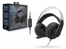 Venom VS2875 Sabre mikrofonos gamer fejhallgató - fekete